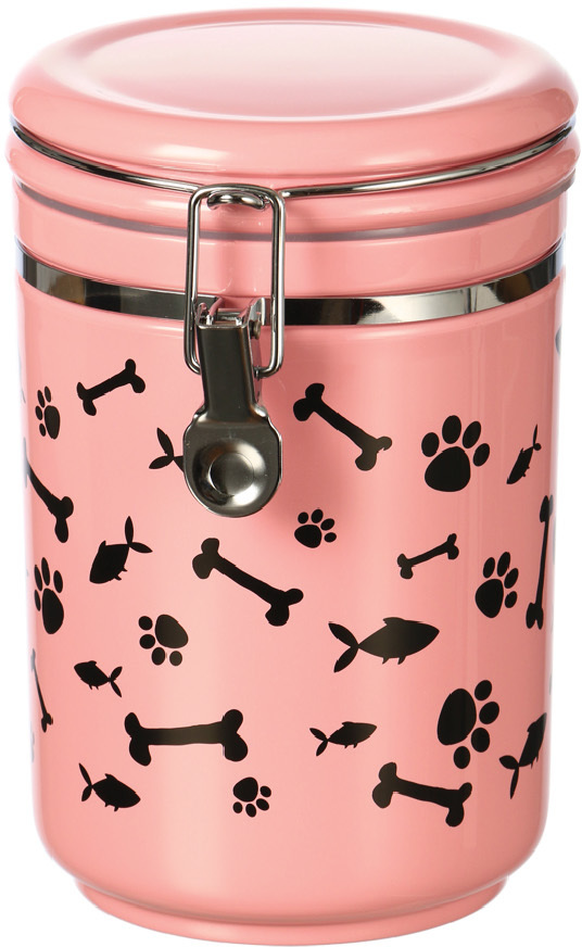 Contenedor Canister Paw & Bone - Rosa