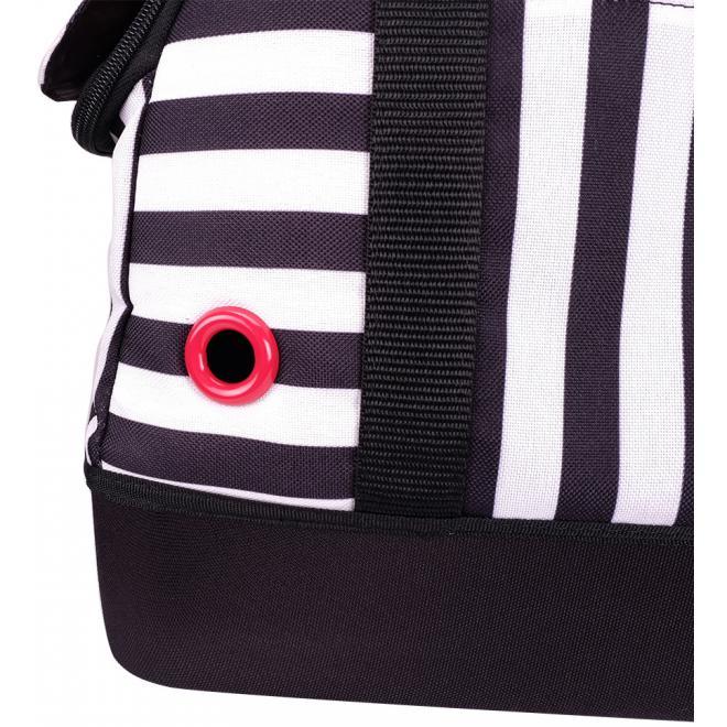 Hop In Petbowling Bag - Audrey Monostripe
