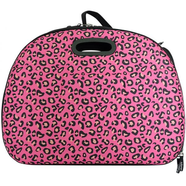 Safari Hard Case Tote - Pink Leopard