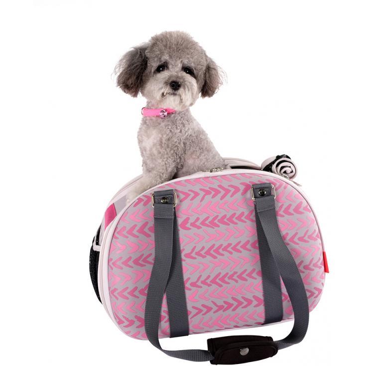 Pet Hardshell Travel - Pink Chevron