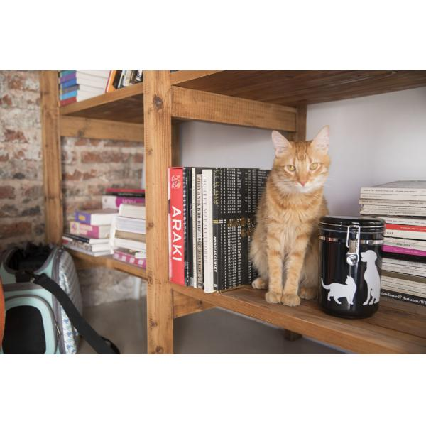 Contenedor Canister Cat & Dog - Negro