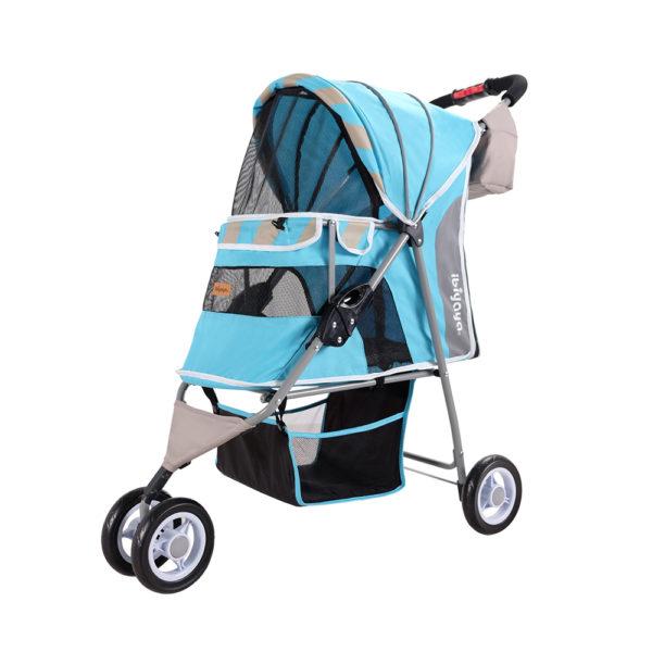 Matte Stripes Stroller - Ocean Blue