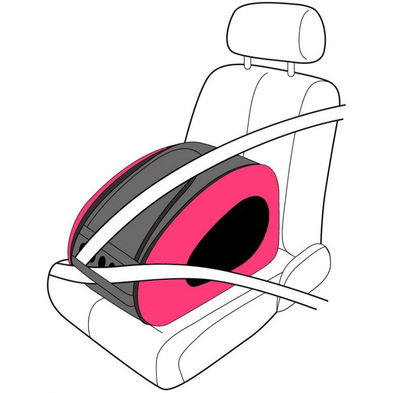 Eva Pet Carrier Wheeled - Hot Pink