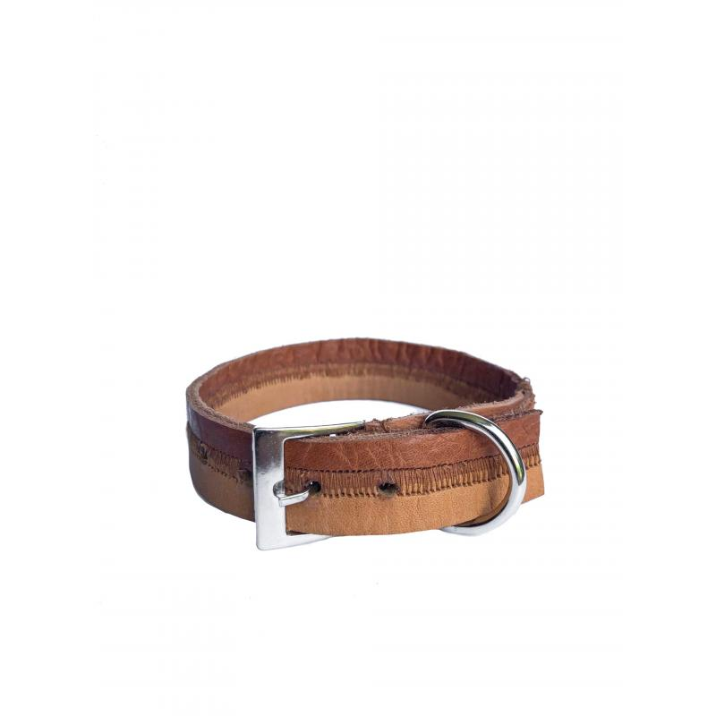 Collar de Cuero Reciclado Extra Small - Marrón