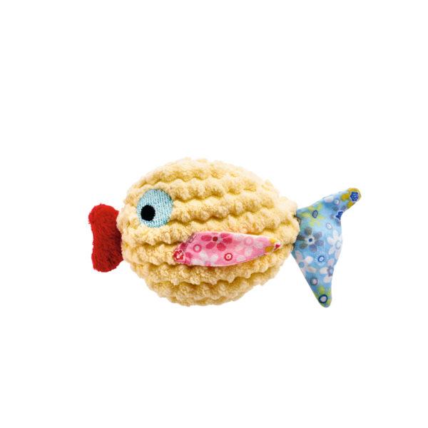 Cat Toy Mamou Fish - Yellow
