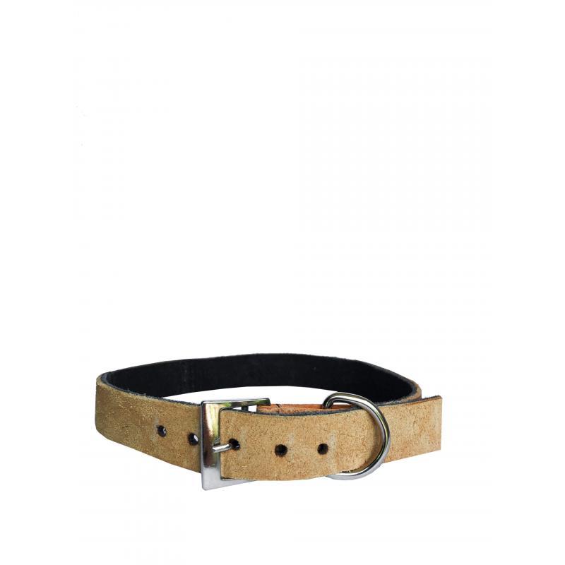 Collar de Cuero Reciclado Médium - Marrón