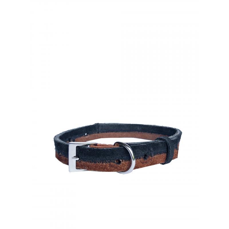 Collar de Cuero Reciclado Small - Negro/Marrón