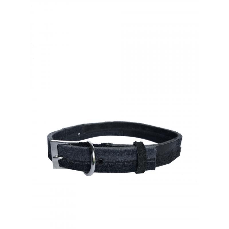 Collar de Cuero Reciclado Small - Azul Oscuro