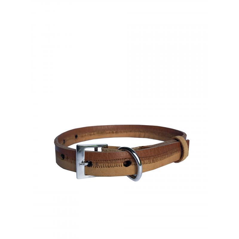 Collar de Cuero Reciclado Small - Marrón