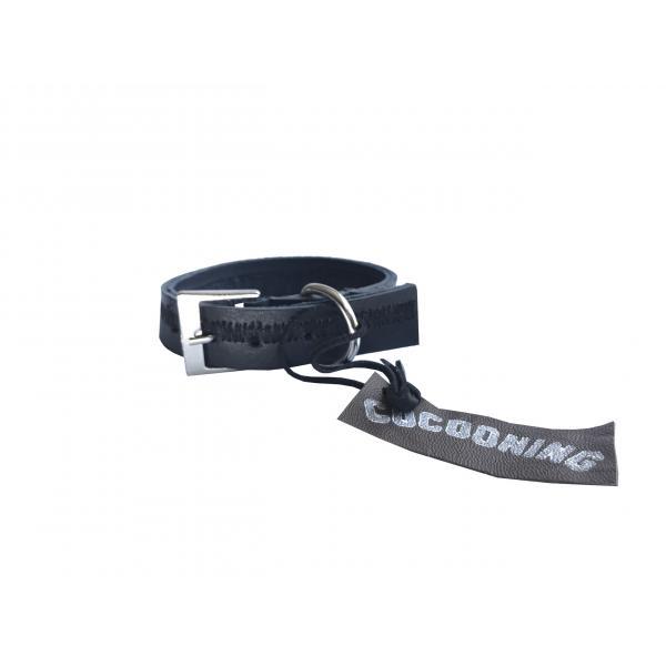 Collar de Cuero Reciclado Extra Small - Azul Oscuro